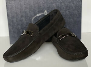 NIB PRADA Men's Suede Black Loafer Driver Shoes 8 US (Prada 7) 2DD163 Italy
