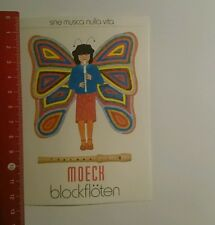 Aufkleber/Sticker: Moeck Blockflöten (171016165)