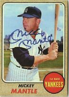 1968 Topps #280 Mickey Mantle with Facsimile Autograph RP Reprint Baseball Card