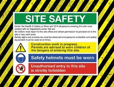 Site Safety Boards (Work wear etc) Construction mustsx2