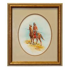 Indian on Horseback with Lance by Hank Lawshe