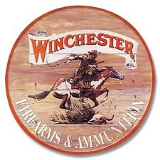 Winchester Tin Sign Western Cowboy Gun Wall Art Home Cabin Shooting Range Decor