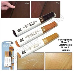 Furniture Scratch Marker 3 Shades Touch Up Pen Laminate Wood Floor Marks Repair