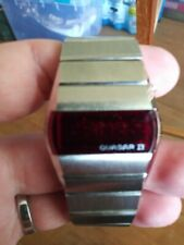 Rare Vintage Quasar II LED Watch NICE!! Works LQQK!