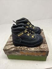 Vintage Timberland Field Boot Navy 15814 Toddler Baby Leather Buck Sz 10.5 NEW