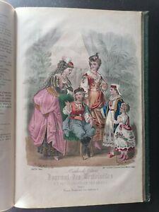 Journal des demoiselles et petit courrier des dames réunis 1873 13 gravures
