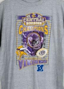 Minnesota Vikings Vintage 1998 Starter T-shirt Gray NFL Football Team Sport Tee