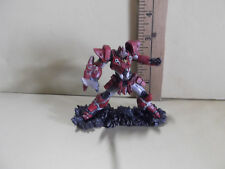 """#B497 Unknown Anime 3.5""""in Red Robot Figure Holding Sword Ready for Battle!"""