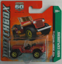 Matchbox Jeep Willys mattrot Neu/OVP Geländewagen Allrad 4x4 Oldtimer Mattel MBX