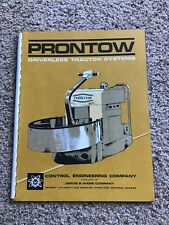 1970s Prontow driverless tractor systems, deluxe sales catalogue.