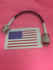 """8"""" PL-259 UHF MALE PLUG TO SO-239/PL-259 FEMALE JACK JUMPER PIGTAIL MADE IN USA"""