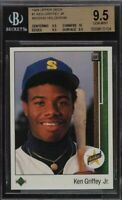 1989 Upper Deck Ken Griffey Jr. ROOKIE RC, MISSING HOLOGRAM BGS Gem with 10. 1/1