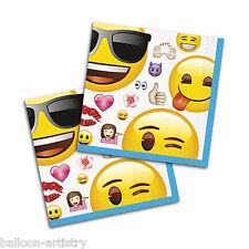 16 UFFICIALE Emoji Smiley Face Festa di Compleanno 25cm bevanda Tovaglioli di carta