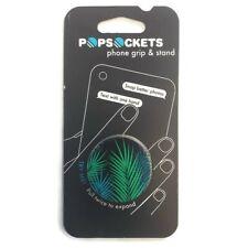 Pop Sockets Single Phone Grip Universal Phone Holder Midnight Palm Stand NEW