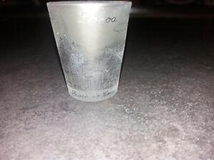Bicchiere Lisbona Praca do comercio Portogallo bicchierino in vetro da liquore
