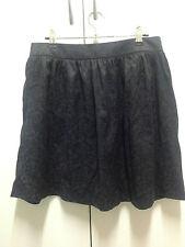 Jeans West black short skirt size 12