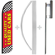 Quality Used Cars Red 15 Tall Windless Swooper Feather Banner Flag Amp Pole Kit