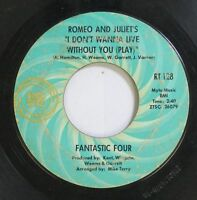 Soul 45 Fantastic Four - I Don'T Wanna Live Without You (Play) / You Gave Me Som