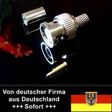 10 Stk. BNC-Stecker (m), Standard mit Lötanschluß, RG59 Gold-Pin für Video, Sat
