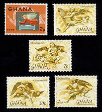 OPC 1975 Ghana Christmas Set Sc#559-563 MNH