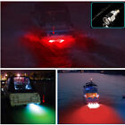 "Red 6 led 1/2"" NPT Underwater Boat Drain Plug Light with connector for fishing"