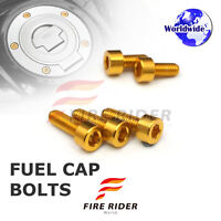 FRW Gold Fuel Cap Bolts Set For Kawasaki ZX-6R Ninja 14-16 14 15 16