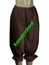 Coffee - Women Cotton Bloomers Vintage Style Old Fashioned Sissy Pantaloons