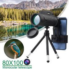 Hd Night Vision Monocular Starscope Phone Camera Zoom Lense+Tripod Bag Telescope