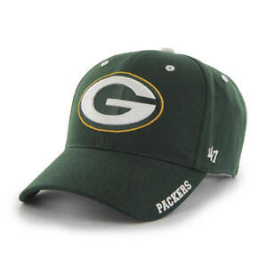 Green Bay Packers 47 Brand Clean Up Hat Adjustable Cap Frost Logo