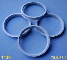 (1430) 4x  Zentrierringe 75,0 / 67,1 mm grau für Alufelge