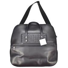 2007f9e8b767 NWT  3k+ Bottega Veneta Men s Black Woven Leather Nylon Big Duffle Bag  AUTHENTIC