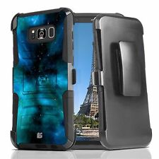 Rugged Cover w/Stand+Holster Clip Case for Samsung Galaxy S8 / S8 Plus