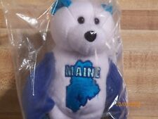 Maine Quarter Beanie Bear 23rd State Collectible Stuffed Coin Bear retired new