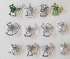 12 x metal Orc Archers including command models OOP Games Workshop 1980s