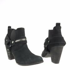 Womens Steven By Steve Madden Shelbi Shoes Black Suede Ankle Bootie Sz 6.5 M NEW