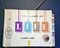 VINTAGE MILTON BRADLEY THE GAME OF LIFE BOARD GAME 1960 FAMILY GAME FINANCIAL