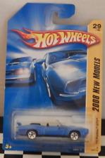 Hot Wheels New Models 2008-029 '70 Pontiac GTO Convertible Blue Muscle Car