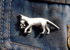 Cat and Kitten Pewter Pin Badge