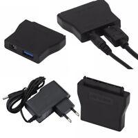 USB 3.0 Zu 2.5 3.5 SATA HDD/SDD Fest Adapter Konverter Kabel mit Netzteil Teile