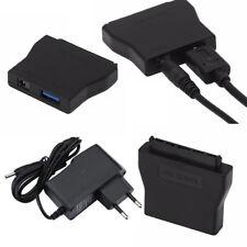 USB 3.0 Zu 2.5 3.5 SATA HDD/SDD Festplatte Adapter Konverter Kabel Netzteil New