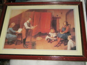 The Recital by Harry Brooker 1848 - 1940 Framed Print Of Children Playing Indoor