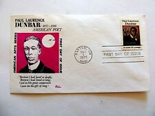 """May 1st, 1975 """"Paul Laurence Dunbar"""" American Poet First Day Cover"""