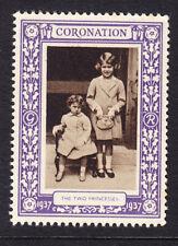 "GB 1937 Coronation ""Purple""  Two Princesses -  Mint"