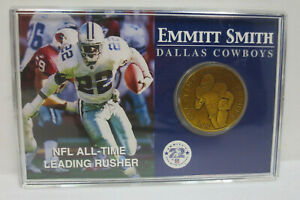 DALLAS COWBOYS NFL EMMITT SMITH NFL ALLTIME LEADING RUSHER MINT COIN COLLECTABLE