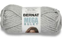 NWT Bernat Mega Bulky YARN Light Grey Heather 88046 One 10.5 Oz Skein Acrylic
