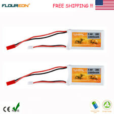 2x 2S 20C 7.4V 1000mAh Lipo Battery JST for RC Helicopter Airplane Car Drone FPV