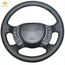DIY Black Leather Steering Wheel Cover for Land Rover Range Rover 2003-2012