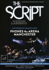 THE SCRIPT & GUEST, LABRINTH, FLYER FOR MANCHESTER ARENA, 7th MARCH 2015.