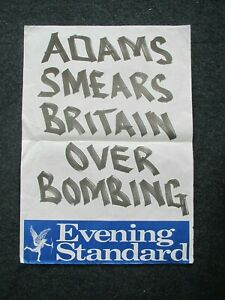 Evening Standard :  News-stand Poster - London 1990's - Choose which you want