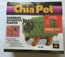 BONUS GIFT INCLUDED RARE 2000 CHIA PET KITTEN DECORATIVE PLANTER KIT NEW IN BOX